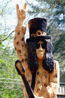 Sculpture, Rock Star, Rock, Wood, Wooden, Tree, Star