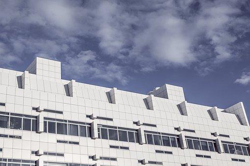 Modern, Building, White, Architecture, Windows, Sky