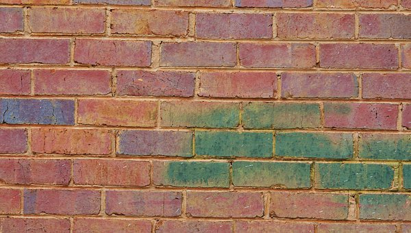Brick, Wall, Red, Tinted, Green, Patterns, Designs