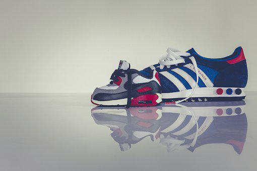 Sports Shoes, Shoes, Sneakers, Hall Shoes, Adidas, Blue