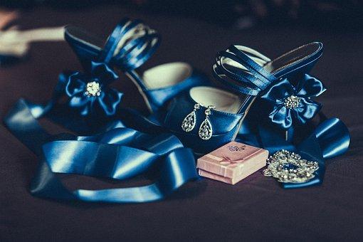 Wedding, Jewellery, Preparation, Shoes, Orienge, Blue
