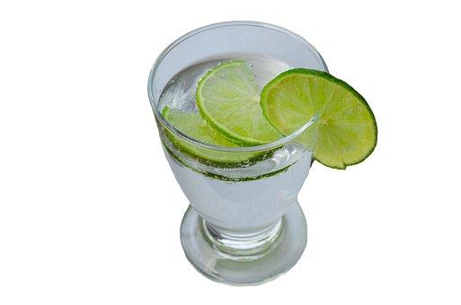 Glass, Mineral Water, Slice Of Lemon, Carbonic Acid