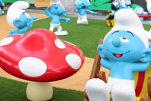 Cartoon, The Smurfs, Exhibition, Hong Kong, Data Unit