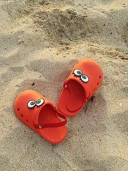 Sand, Shoes, Baby, Play, Child, Sandals, Beach, Red