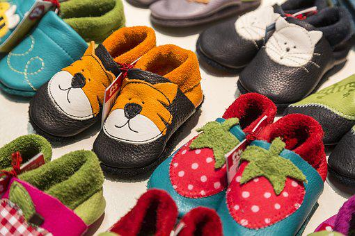 Children, Children's Shoes, Shoes, Tiger, Strawberry