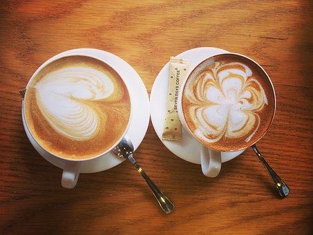 Coffee, Caramel Macchiato, Cappuccino, Mocha, Hot