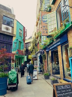 Neal's Yard, Tourist, London, Colourful, Covent