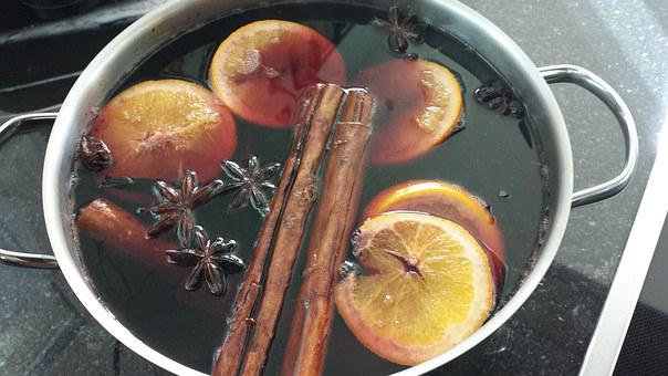 Mulled Wine, Wine, Cinnamon, Alcoholic, Drink