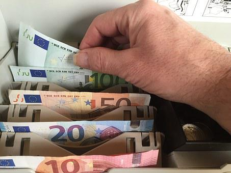 Euro, Money, Bank Note, Checkout, Withdrawal