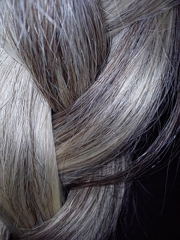 Plait, Hair, Grey, Material, Natural, Gray Hair, Senior
