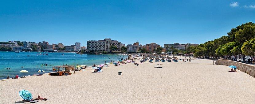 Beach, Sandy Beach, Majorca, Paradise, Holiday, Bathing