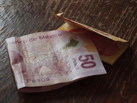 Money, Pesos, Bill, Cash, Currency, Mexico, México