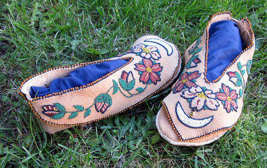Moccasins, Traditional, Culture, Native, Clothing