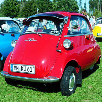 Bmw, Isetta, Snogging Ball, Oldtimer, Rarity, Old