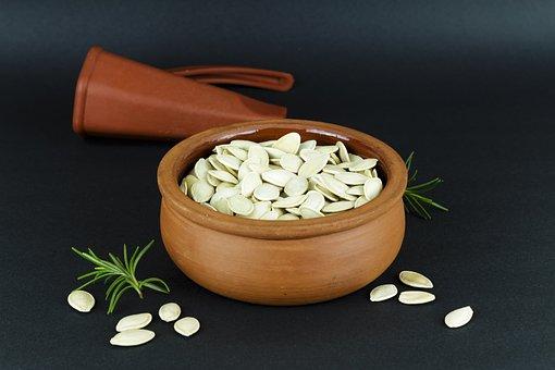 Pumpkin Seeds, Kap, Pot, Healthy Food, Food, Terry