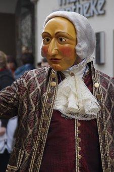 Nobleman, Man, Wig, Rococo, Baroque, Face, Head, Figure