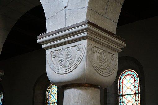 Cushion Capital, Romanesque, Church, Romanesque Church
