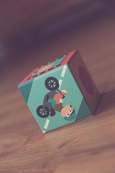 Toys, Block, Square, Cardboard, Comic, Drawing, Stack