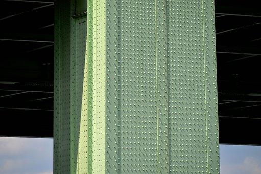 Bridge Piers, Steel Beams, Pillar, Rivet, Stability