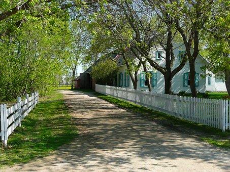 Alley, Steinbach, Mennonite Heritage Village, Manitoba