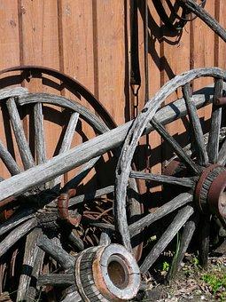 Wooden, Tires, Steinbach, Mennonite Heritage Village