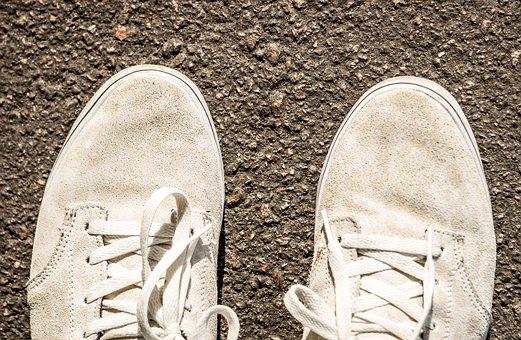 Shoes, Gym Shoes, Suede, Shoe Laces, Asphalt