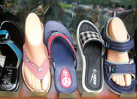 Foot, Sandal, Slipper, Window, Shoe, Summer, Sandals