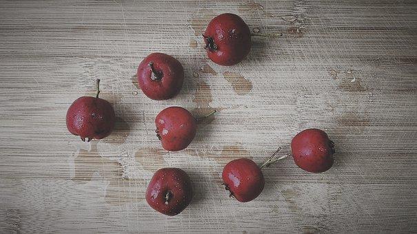 Hawthorn, Acid, Fruit, Health, Vitamins