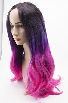 Wig, Mannequin Head, Cosplay, Pink Hair, Artificial