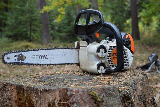 Pila, Small Sawmill, Chainsaw, Motor, Wood Carving