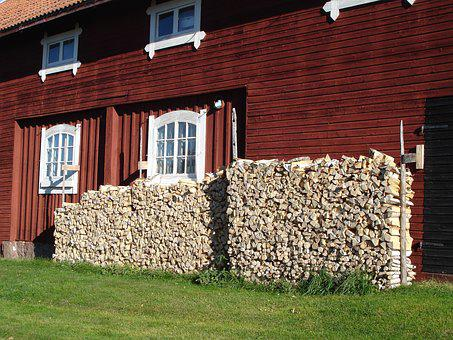 Wood, Woodpile, Vedtravar, Barn, Outbuilding
