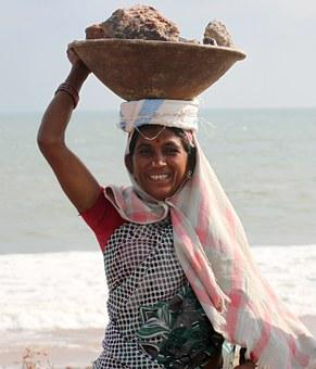 India, Coolie, Labor, Work, Rocks, Construction, Heavy