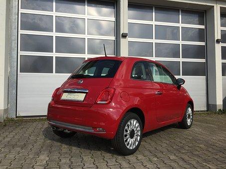 Fiat, 500, Cinquecento, Red, Italy, Mini, Oldtimer