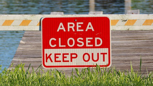 Area Closed, Sign, Closed, Warning, Restricted
