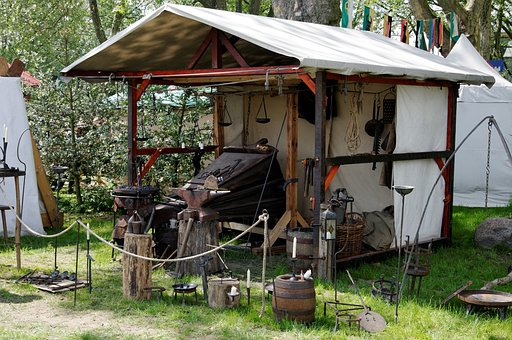 Medieval Market, Middle Ages, Forge, Sale, Art