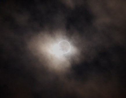 Annular Eclipse, Eclipse, Cloudy Sky, Astronomy, Otsu