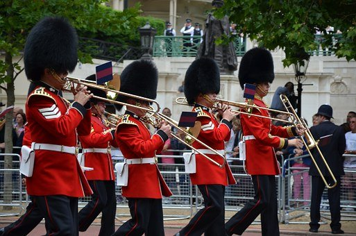 Guards, Queen, Parade, England, Royal, Marching, Band