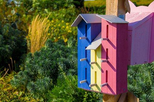 Bird Houses, Aviary, Nature, Tree, Bird, Wood, Animals
