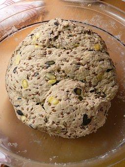 Bread, Dough, Grains, Ingredients, Sesame