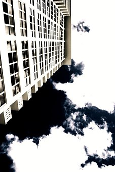 Architecture, Building, Upside Down, Sky, Clouds