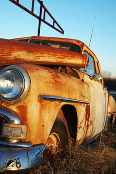 Rusty Car, Abandoned, Junkyard, Wreck, Car, Hood