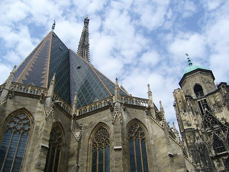 Vienna, St Stephen's Cathedral, Church, Clouds