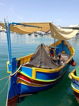 Boat, Maltese, Colorful, Malta, Fishing