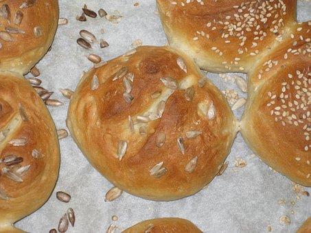 Roll, Bread, Crispy, Fresh, Cool Down, Eat, Homemade