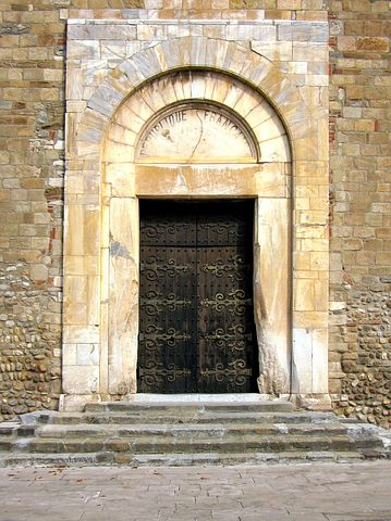 Portal, Cathedral, Elne, Catalan, France, Roussillon