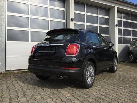 Fiat, 500x, Jeep, Crossover, Black, Mini, Suv, City