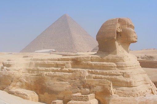 Egypt, Giza, Pyramid, Sphinx, Sandstorm, Haze