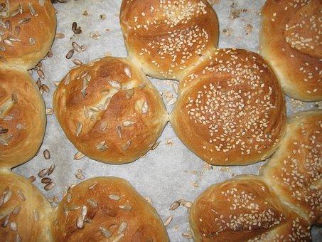 Roll, Bread, Crispy, Frisch, Cool Down, Eat, Homemade