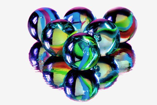 Marbles, Blue, Glass, Kids, Games, Play, Round