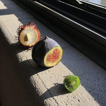 Exotic Fruit, Fig, Kiwi, Tropical, Exotic, Fruit